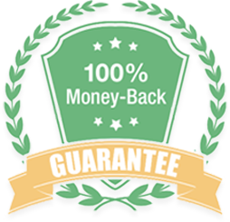 100% money back guarantee within 7 days